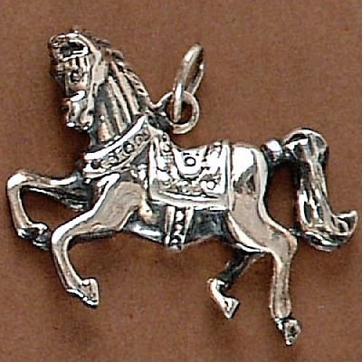 Pingente de Cavalo Marchador - 95124  - Magia das Joias