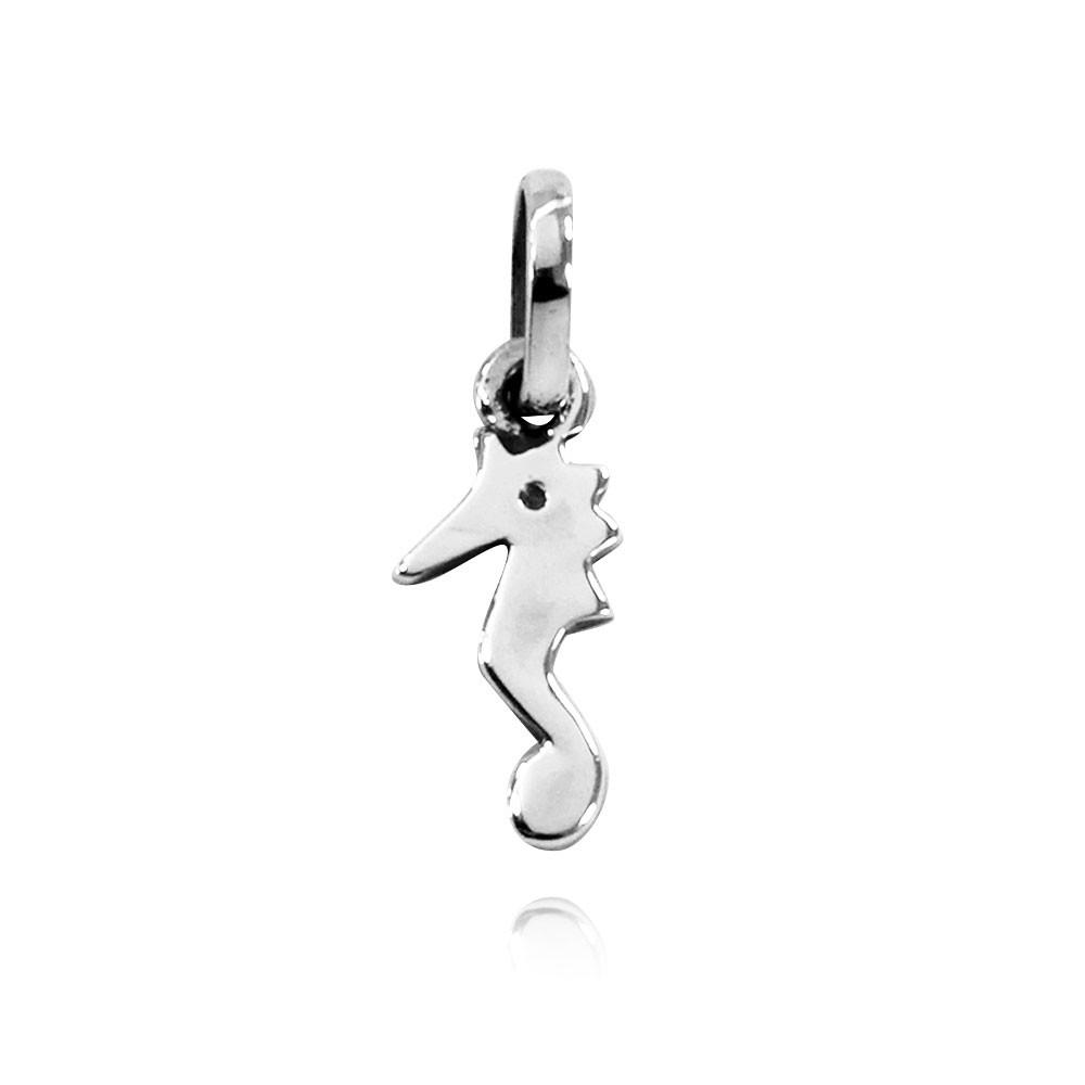 Pingente de Cavalo-Marinho Liso Pequeno - 95974  - Magia das Joias