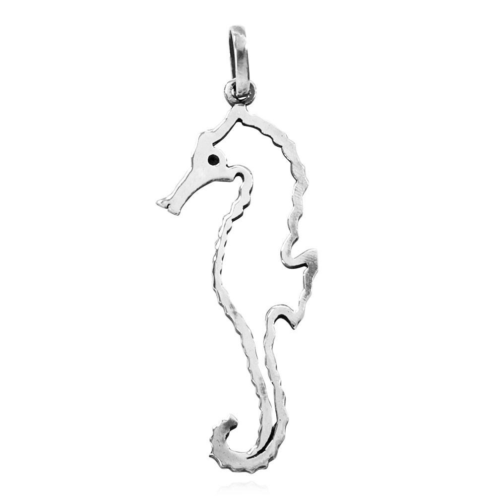Pingente de Cavalo-Marinho Silhueta - 33248  - Magia das Joias