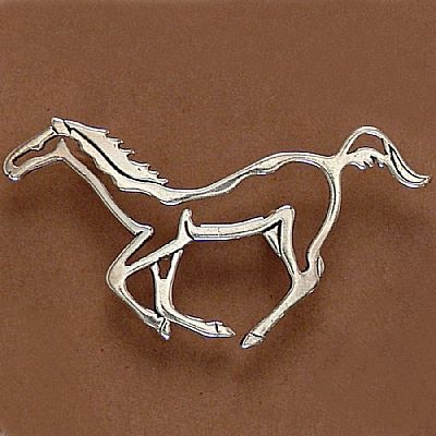 Pingente de Cavalo Silhueta - 9597  - Arte Ativa