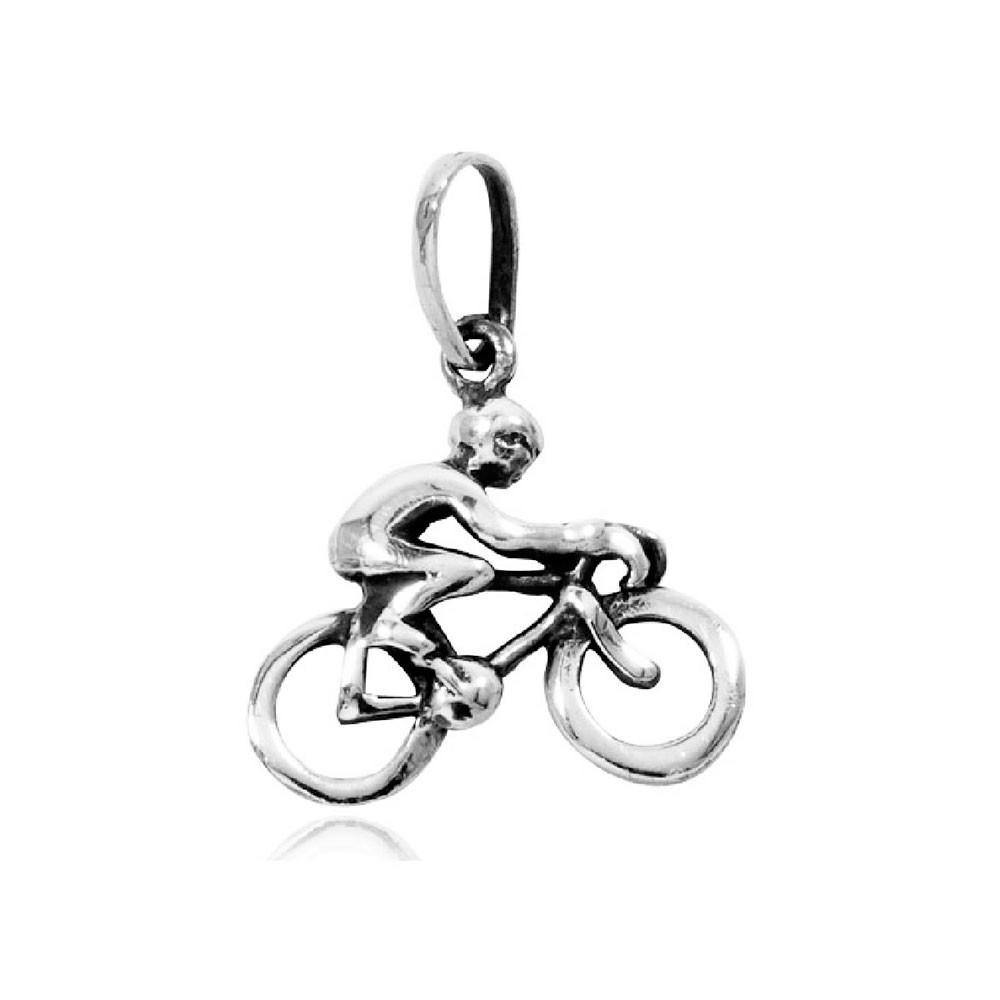 Pingente de Ciclista Bicicleta Bike Pq - 9698  - Magia das Joias