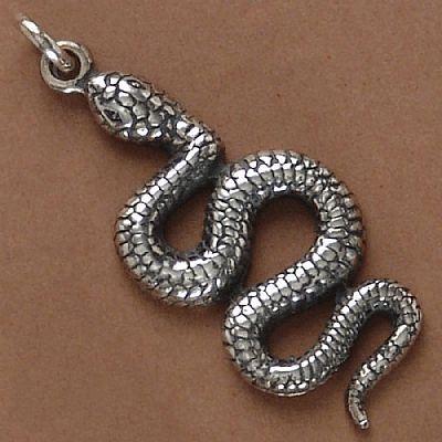 Pingente de Cobra Anfíbio - 33132  - Magia das Joias