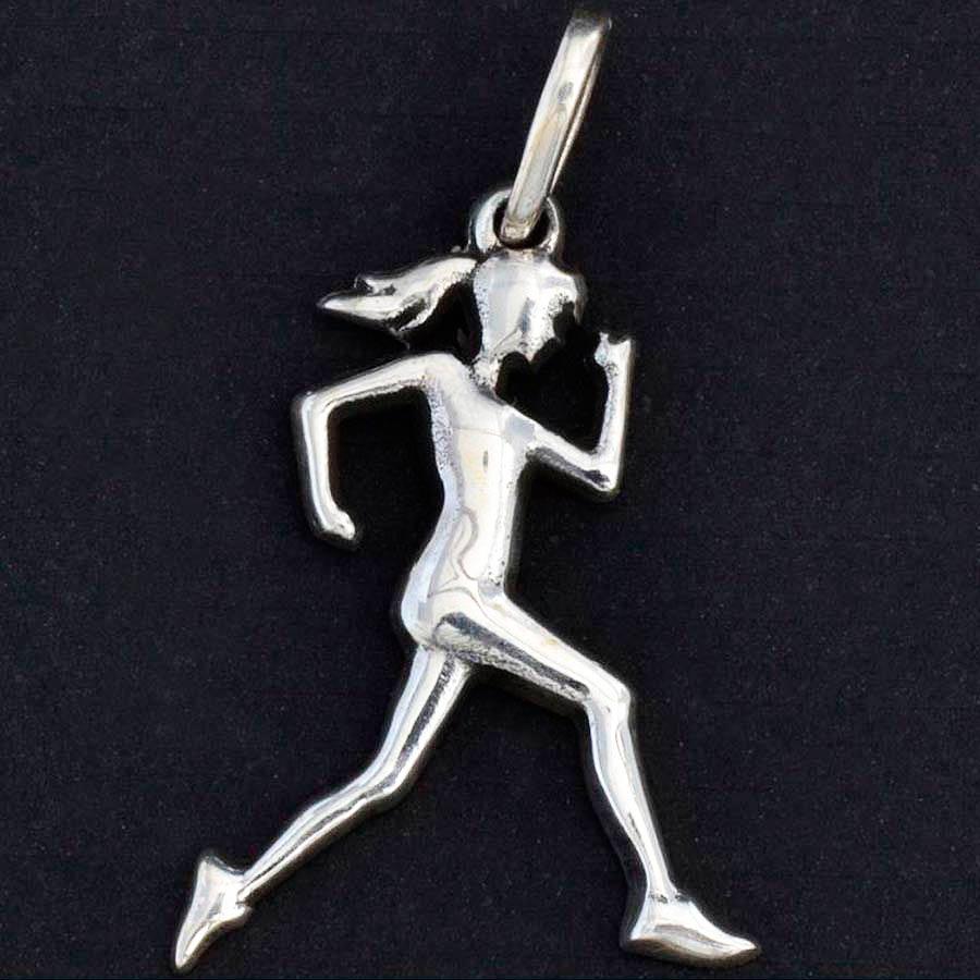 Pingente de Corredora Maratonista Corrida Mulher - 95876  - Magia das Joias