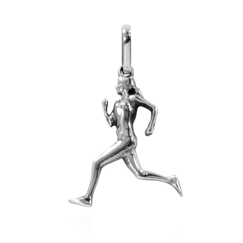 Pingente de Corredora Maratonista Corrida Mulher Atletismo - 9705  - Arte Ativa