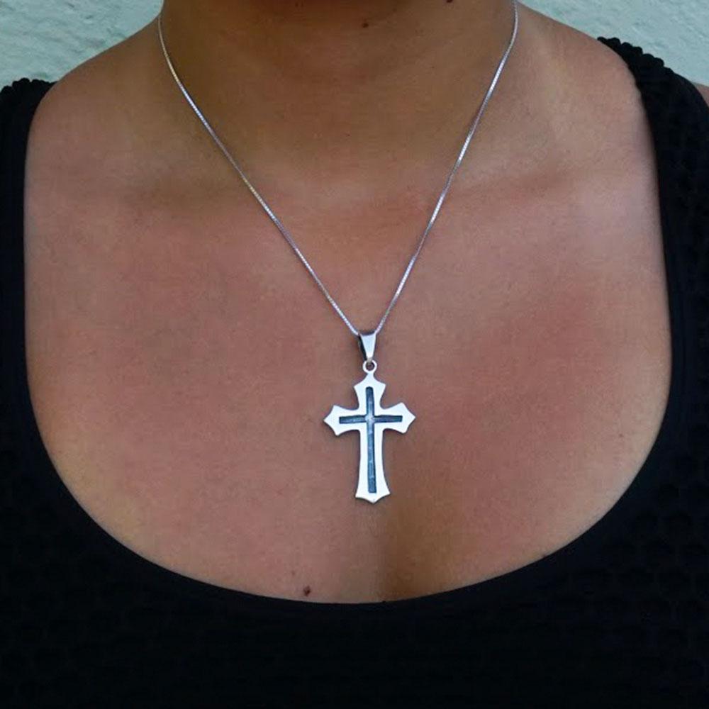 Pingente de Cruz Catolicismo - 95953  - Magia das Joias