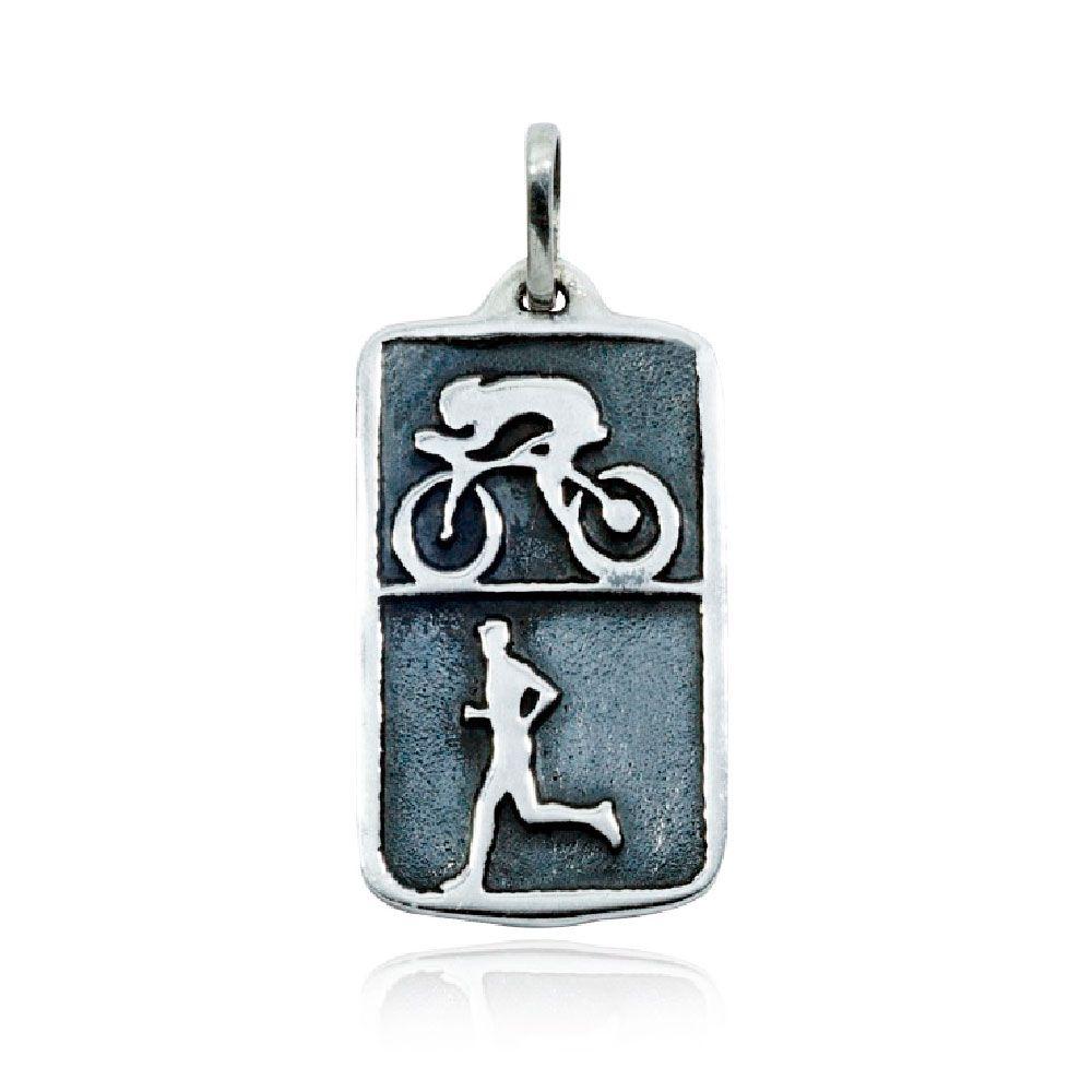 Pingente de Duathlon Duatlo Ciclismo Corrida - 96112