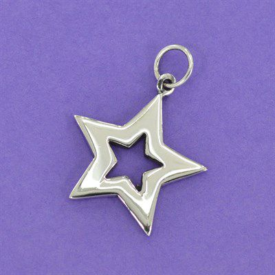 Pingente de Estrela - 95363  - Magia das Joias