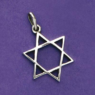 Pingente de Estrela de Davi - 95387  - Magia das Joias