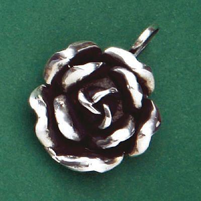 Pingente de Flor Rosa - 2690  - Magia das Joias