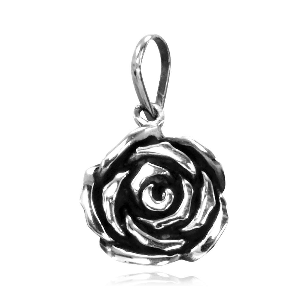 Pingente de Flor Rosa - 95703