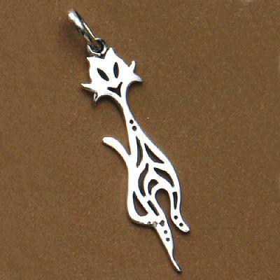 Pingente de Gato Vazado - 95596  - Magia das Joias