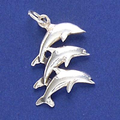 Pingente de Golfinhos - 9502  - Arte Ativa