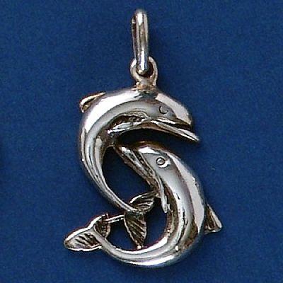 Pingente de Golfinhos - 9564  - Arte Ativa
