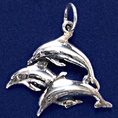 Pingente de Golfinhos - 9581  - Arte Ativa