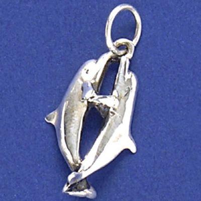 Pingente de Golfinhos - 9586  - Magia das Joias