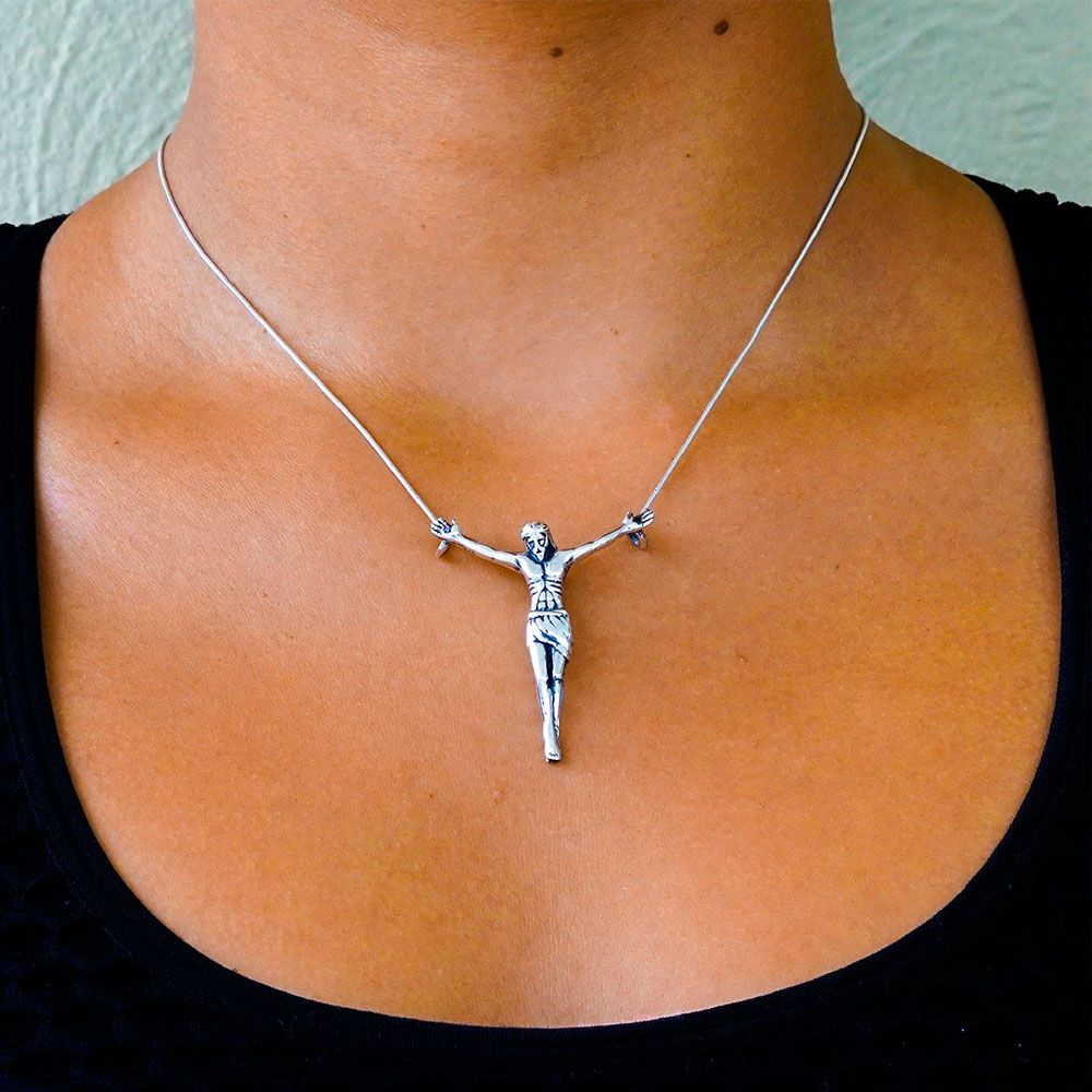 Pingente de Jesus Cristo - 95535  - Magia das Joias