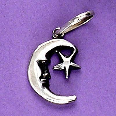 Pingente de Lua e Estrela - 3347  - Arte Ativa