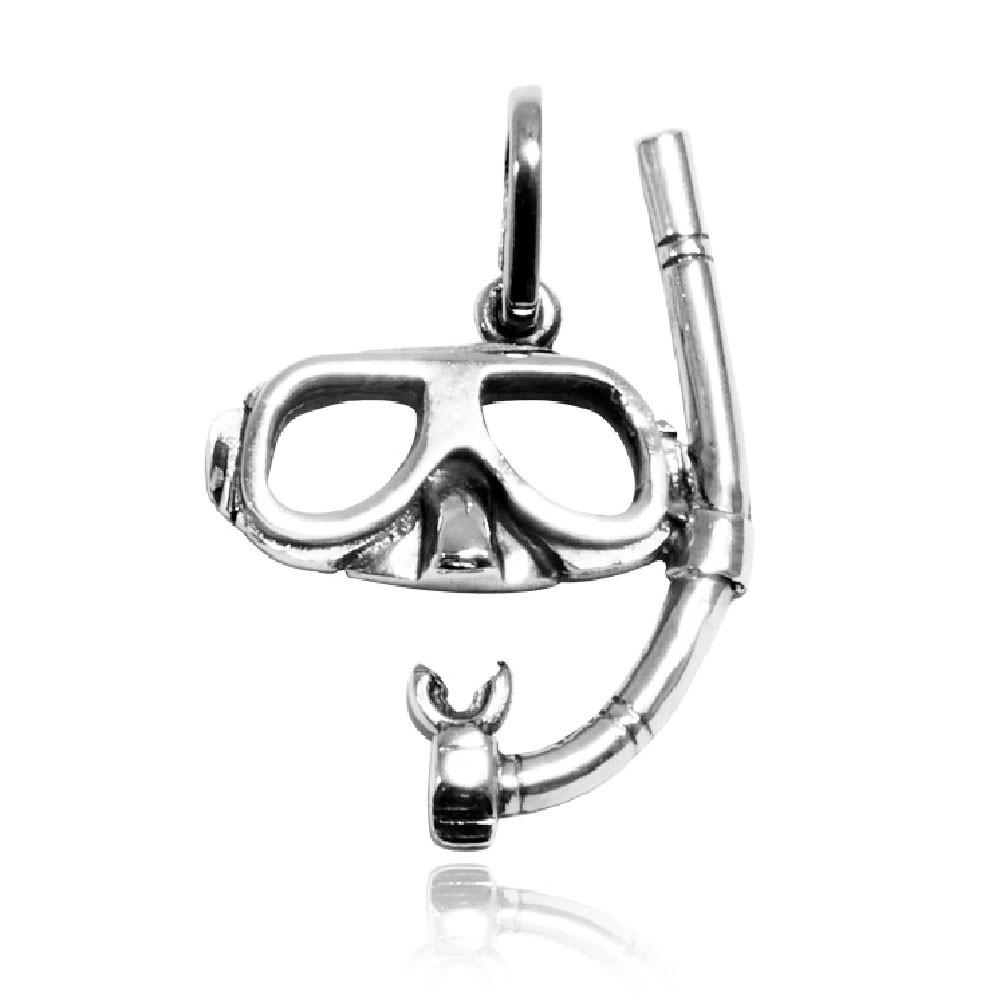 Pingente de Máscara e Snorkel Mergulho - 9566  - Arte Ativa