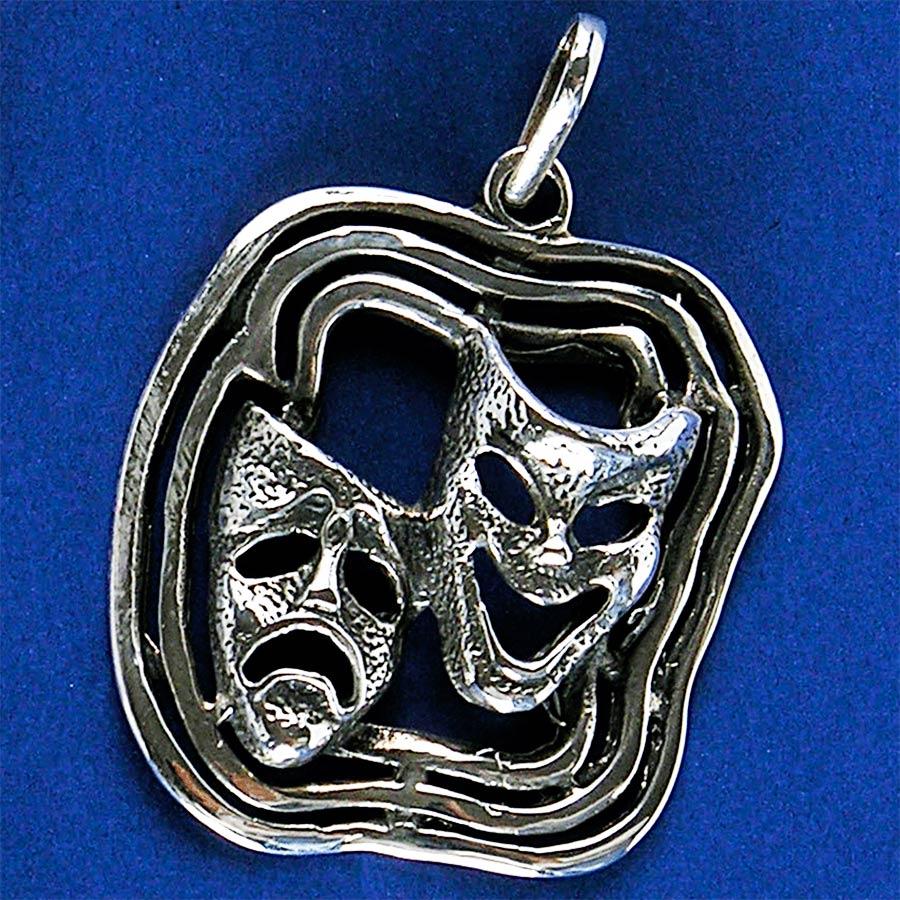 Pingente de Máscaras de Teatro - 2671  - Magia das Joias