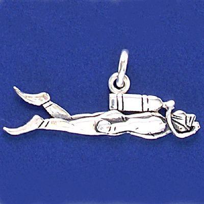 Pingente de Mergulhador - 33187  - Magia das Joias