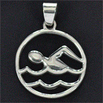 Pingente de Nadador Natação Crawl - 9787  - Magia das Joias