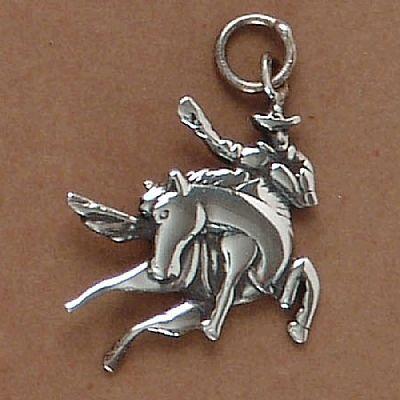Pingente de Peão no Cavalo Rodeio - 95185  - Magia das Joias