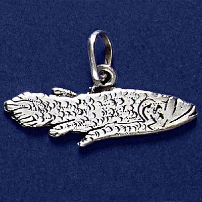 Pingente de Peixe Celacanto - 33186  - Magia das Joias