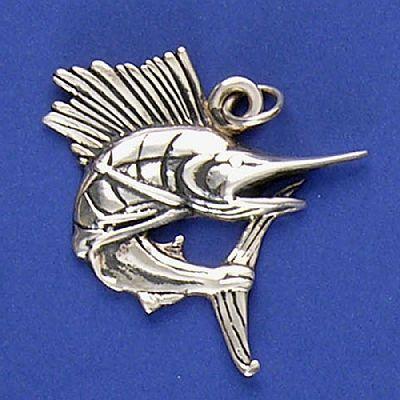 Pingente de Peixe Marlim - 9585  - Arte Ativa
