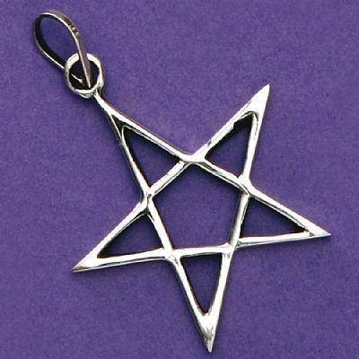 Pingente de Pentagrama ou Estrela de Salomão - 3334  - Magia das Joias