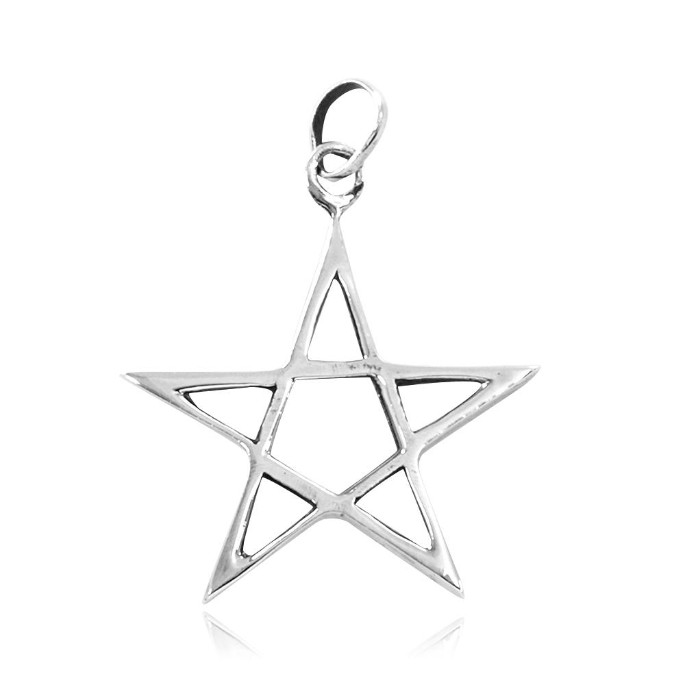 Pingente de Pentagrama ou Estrela de Salomão - 3334