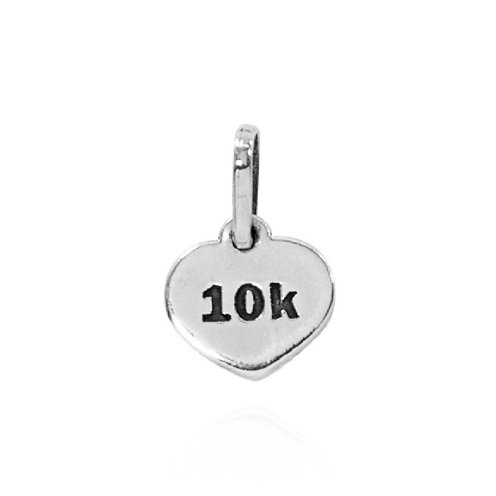 Pingente de Placa de Distância 10Km - Atletismo Corrida - 96164  - Arte Ativa