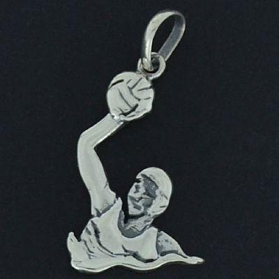 Pingente de Polo Aquático Feminino - 9741  - Magia das Joias