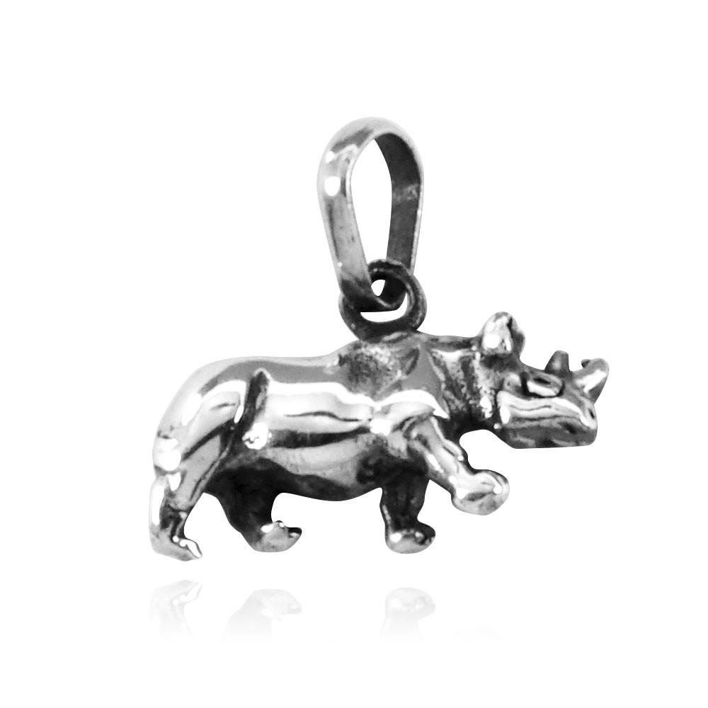 Pingente de Rinoceronte Mamífero - 9590  - Arte Ativa