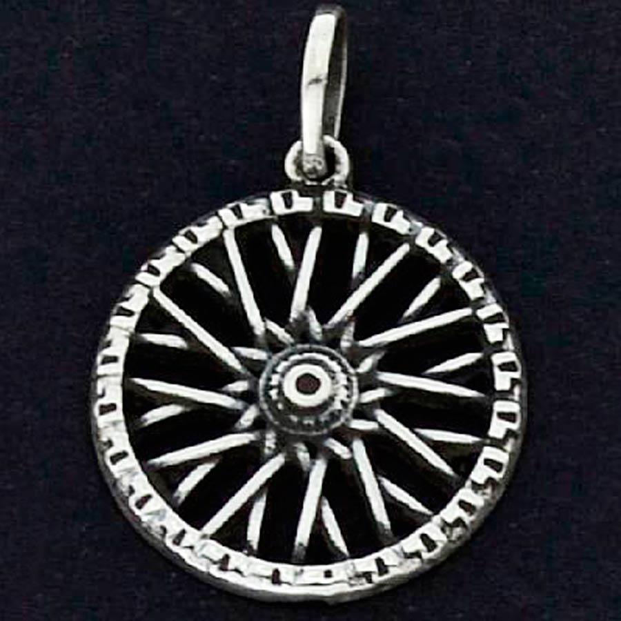 Pingente de Roda de Bicicleta - 9677  - Magia das Joias