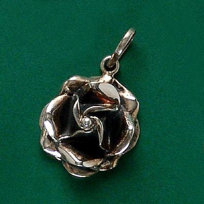 Pingente de Rosa Flor - 33123  - Arte Ativa