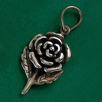 Pingente de Rosa - 33222  - Magia das Joias