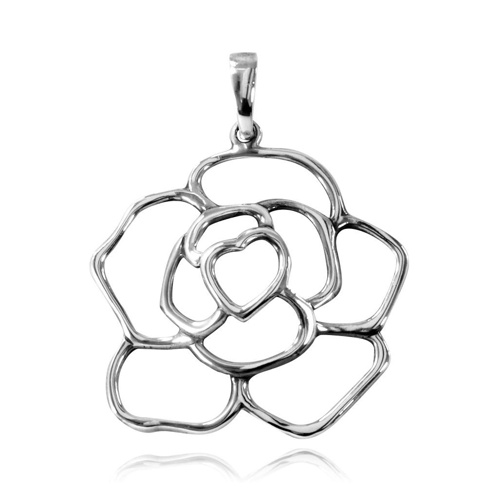 Pingente de Rosa Flor - 95633  - Arte Ativa