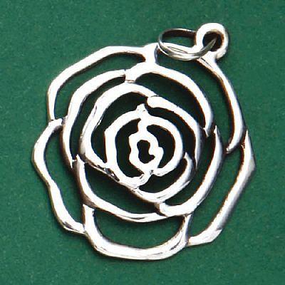 Pingente de Rosa - 95634  - Magia das Joias