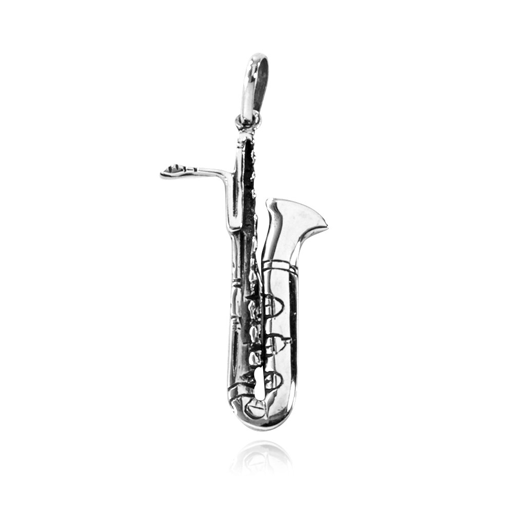 Pingente de Saxofone - 95422  - Magia das Joias