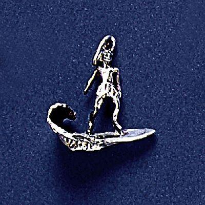 Pingente de Surfista na Onda - Surfe - 95217  - Magia das Joias