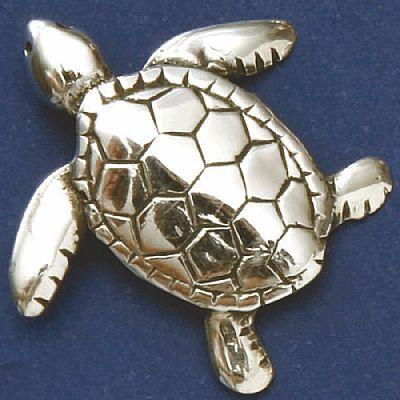 Pingente de Tartaruga Marinha Gd - 95628  - Magia das Joias