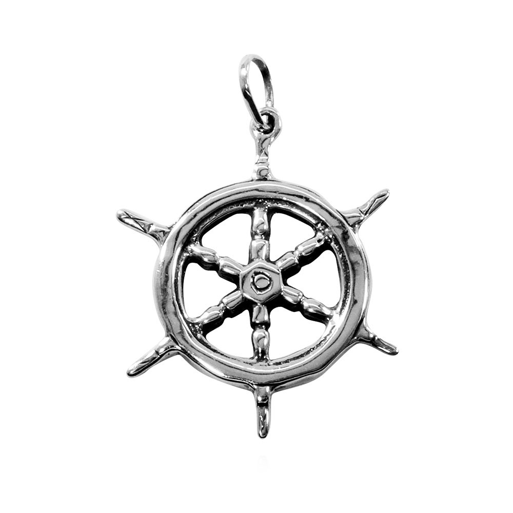 Pingente de Timão de Barco Náutica - 95289  - Arte Ativa