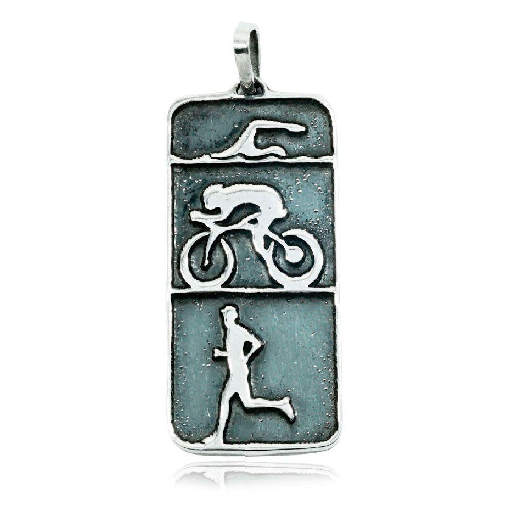 Pingente de Triatlhon Natação Ciclismo Corrida Atleta - 95886  - Arte Ativa