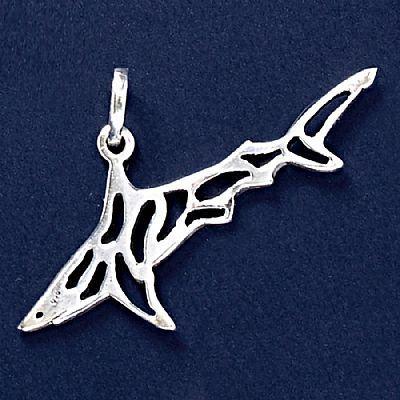 Pingente de Tubarão - 33243  - Arte Ativa