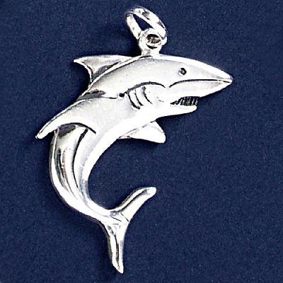 Pingente de Tubarão - 9576  - Arte Ativa