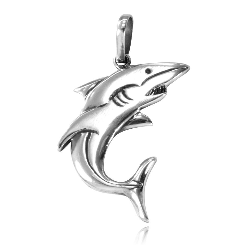 Pingente de Tubarão - 9577  - Arte Ativa