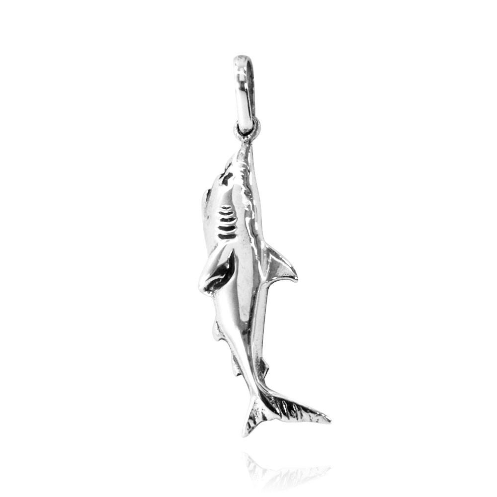 Pingente de Tubarão Branco - 95102  - Magia das Joias