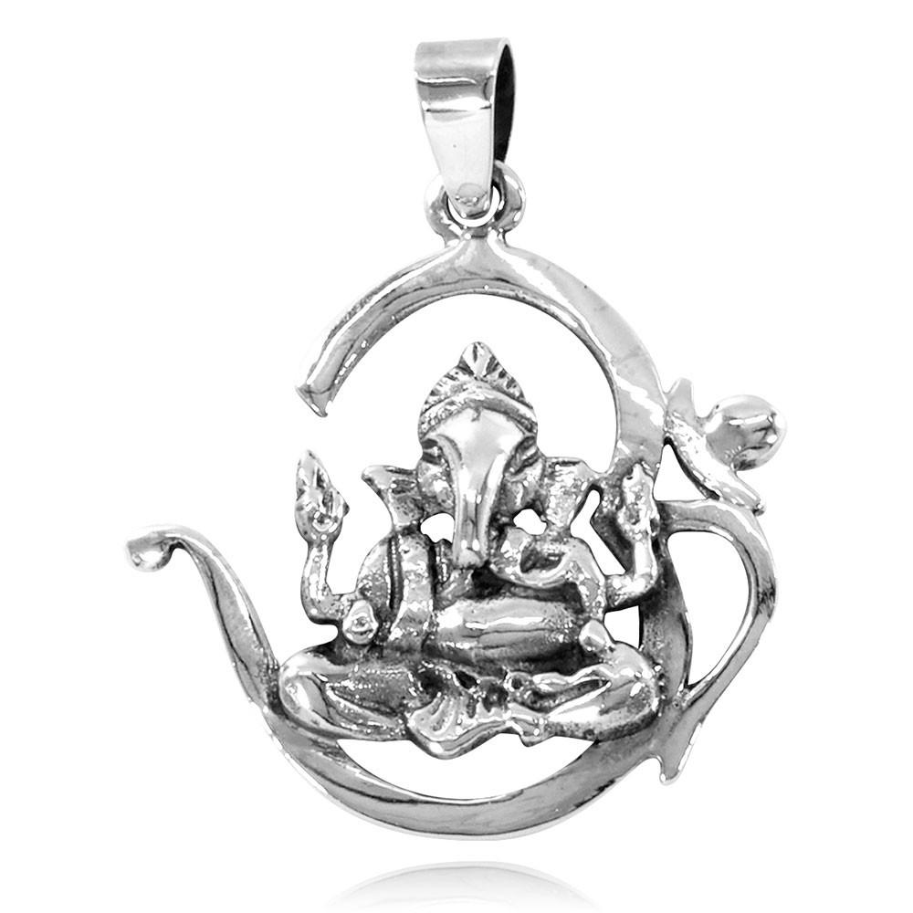 Pingente Om Ganesha - 33119  - Magia das Joias