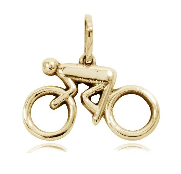 TESTE - Pingente de Bicicleta Ciclista Homem - 95877  - Magia das Joias