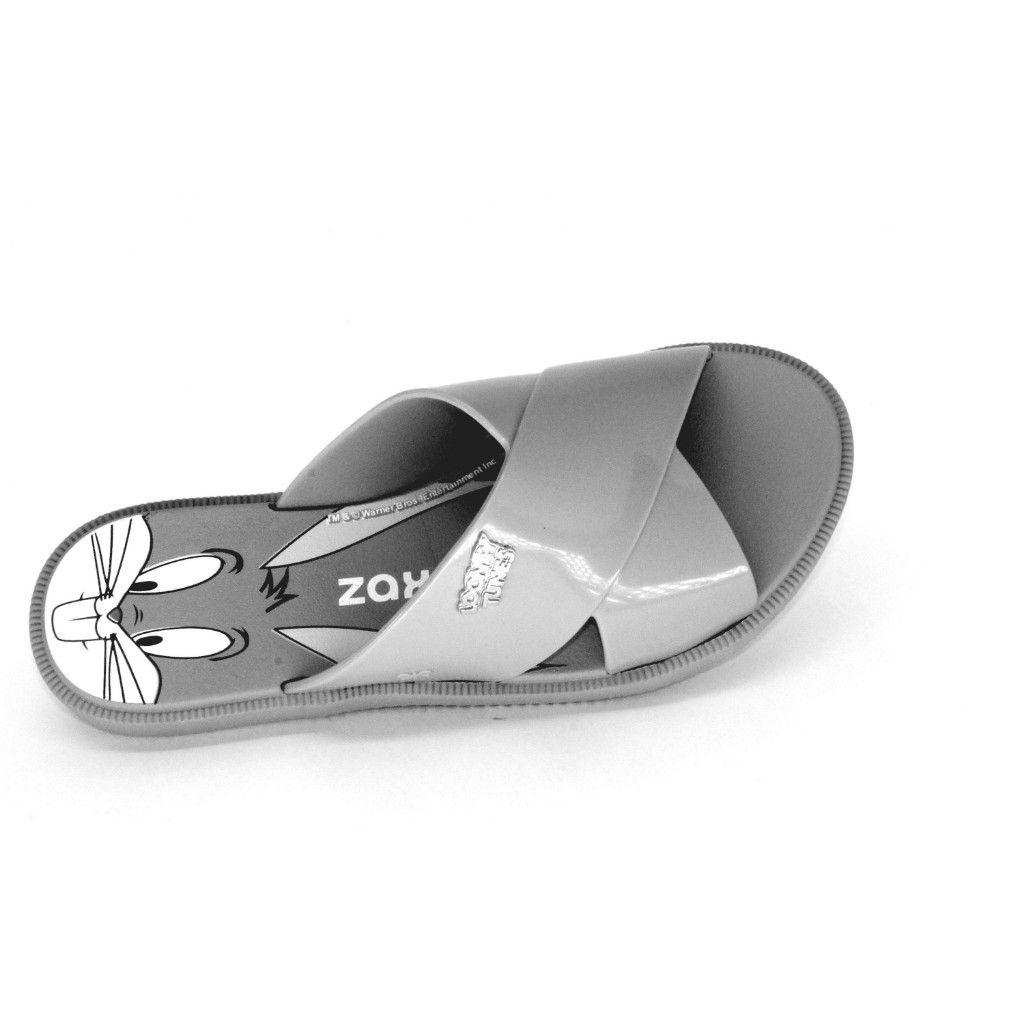 4b39fb5efc ... Chinelo Slide Looney Tunes Zaxy 17762 - Cinza claro - Via Calce Calçados